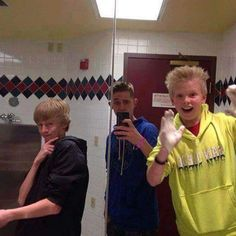 Carson Lueders Jackson Lueders and a friend in the mirror