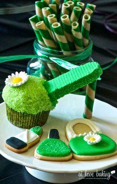 Cake with Ube Buttercream