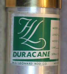 """H. L. LEONARD ROD CO. - MAKERS, MODEL """"DURACANE IMPREGNATED"""", 7 1/2' 2PC 2 TIP 5 WT, 3 1/2 oz. Serial #2643. Model #755, Blued nickel silver rod ferrules with ferrule plug. Wrapped in dark brown silks and tipped in black."""