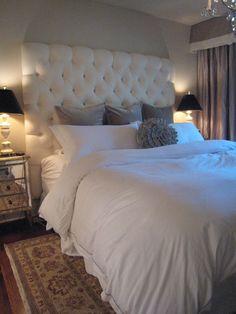bedroom - white & gray glam