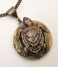 Steampunk Water Turtle Locket. $59.99, via Etsy.