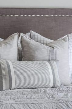 The shower curtain made perfect euro shams. Euro Pillows, Old Pillows, Euro Shams, Make Your Own Pillow, How To Make Pillows, Pillow Inserts, Pillow Covers, One Level Homes, Easy Diy Projects