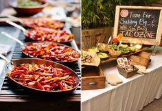 Wedding Reception Food Taco Bar // Photo Left: Justine Ungaro // Photo Right: George Simian // Catering: Heirloom - Treat guests to one of these awesome food stations. Taco Bar, Nacho Taco, Burrito Bar, Grilled Cheese Bar, Grilled Cheeses, Reception Food, Wedding Reception, Wedding Catering, Wedding Ideas