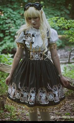 Elegy's new series is called Albino Accord and I'm in love with the black color way~ Albino Deer, New Series, Japanese Fashion, Lolita Fashion, Style Me, Dress Up, Pretty, Color, Black