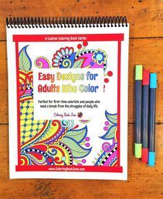 Easy Designs For Adults Who Color