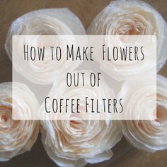 Learn how to make beautiful coffee-filter flowers for home decor, gifts, or party decorations. It's a fun craft using supplies you already have! day crafts decorations coffee filters How to Make Flowers From Coffee Filters: 8 Patterns and Tips Coffee Filter Roses, Coffee Filter Wreath, Coffee Filter Crafts, Coffee Filter Art, Tissue Paper Flowers, Felt Flowers, Diy Flowers, Flower Crafts, Fabric Flowers