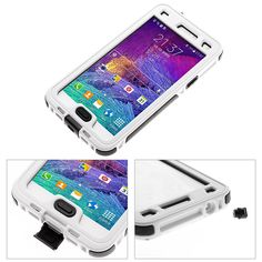Newest For Samsung Galaxy Note 4/N9100 Dirt Snow Cover Case White Waterproof US in Cases, Covers & Skins | eBay