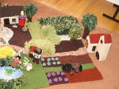 The Knitted Farmyard pattern by Hannelore Wernhard