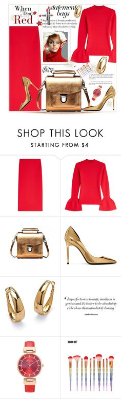 """""""Untitled #268"""" by ljubacelo ❤ liked on Polyvore featuring Diane Von Furstenberg, Pat McGrath, Yves Saint Laurent, Palm Beach Jewelry, Manon Baptiste and statementbags"""