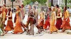AMITY. I do not like that they are wearing orange, in the book it says they wear yellow and red.