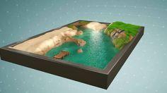 """CARPETO : """"Crique mystérieuse"""" - Illustration 180x120 cm, réalisée par Vincent Subréchicot - #tapis de jeux"""