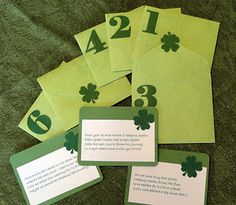 Leprechaun scavenger hunt for St. Patrick's Day. Fun clues to try to catch the leprechaun!