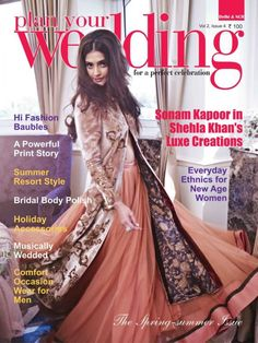 Love this outfit on Sonam Kapoor. It's not a great editorial/cover, and we don't like her hairstyle, but the outfit is a win!