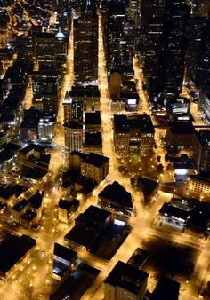I love this!! It Looks So Gotham City! Seattle, Washington - Seattle at Night - Pioneer Square -Smith Tower