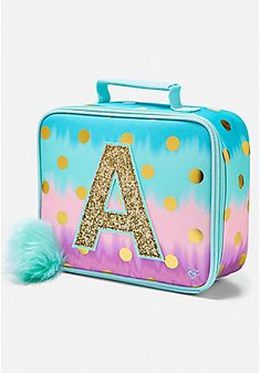 Justice is your one-stop-shop for on-trend styles in tween girls clothing & accessories. Shop our Ombre Foil Dot Initial Lunch Tote. Justice Backpacks, Justice Bags, Justice Stuff, Justice School Supplies, Cute School Supplies, Cute Backpacks, Girl Backpacks, Diy Gift For Bff, Mini Backpack Purse