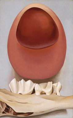 Georgia O'Keeffe  American, 1887-1986, Red and Pink Rocks and Teeth