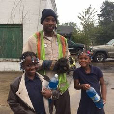 School girls help rescue tiny pup from storm drain