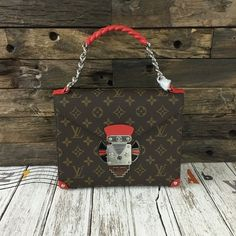 newest 2015 louis vuitton pochette mask chain gm m50131 red on sale,get most popular lv online.
