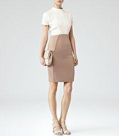 $360 - Womens Cream/neutral Keyhole Detail Dress - Reiss Cipriano