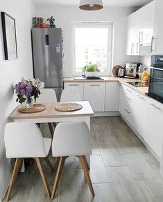 Simple Kitchen Design, Kitchen Room Design, Contemporary Kitchen Design, Home Decor Kitchen, Interior Design Kitchen, Home Kitchens, Rustic Kitchen, Space Kitchen, Modern Contemporary