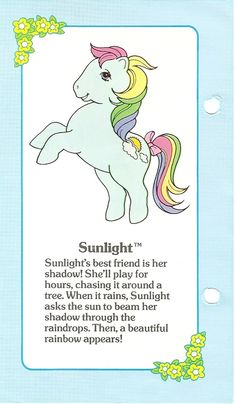 My Little Pony Sunlight fact file ...
