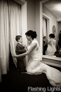 First look for a mother and her son - a really fun idea for a wedding with a bride and groom who have kids