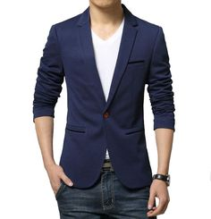 Contemporary Fitted Blazer Material: Cotton,Polyester
