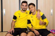 Shinji with Ilkay Gündogan