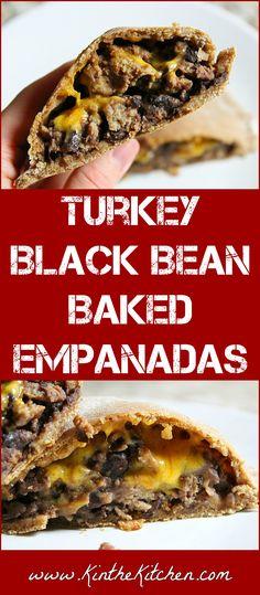 Turkey Black Bean Baked Empanadas