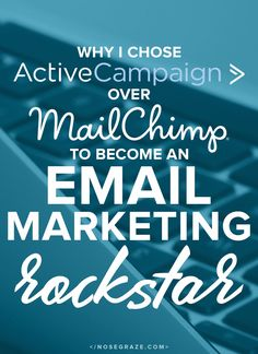 """If you caught my hidden message in my productivity post, you might have seen that I now use ActiveCampaign (affiliate link) for my email marketing. You might be wondering, """"Why didn't you choose MailChimp?"""" If I'm being perfectly honest, I never even considered MailChimp when I thought about moving away from my own email plugin. …"""