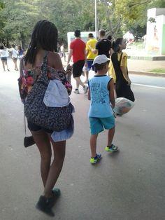 Ibirapuera, com os meus sobrinhos amados...