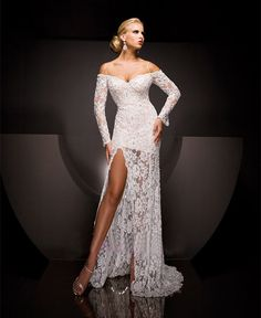 Sexy Sweetheart Lace Wedding Dress with Beading and by Whitesrose, $350.00