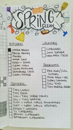 Household chores page (would probably do without checkboxes and use it as a prompt over and over again)