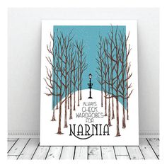 Always Check Wardrobes For Narnia, Narnia, C.S. Lewis, Adventure, Nursery, Instant Download, Print, Wall Decor, Baby, Fantasy, Printable Art