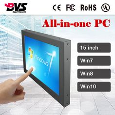 Ingenious All In One Computer 19inch Intel Atom D2550 Industrial Panel Pc With Resistance Touch Screen 16g Ssd 2g Ram Affordable Pc Durable In Use Computer & Office