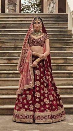 Designer Bridal Lehenga, Indian Bridal Lehenga, Indian Bridal Outfits, Indian Bridal Wear, Indian Dresses, Bridal Dresses, Bridal Lenghas, Sabyasachi Lehenga Bridal, Bridal Sari