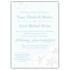 Beach Sand Dollars Wedding Invitations from PaperStyle