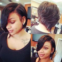 Dope Hairstyles, Cute Hairstyles For Short Hair, Pretty Hairstyles, Short Hair Cuts, Curly Hair Styles, Natural Hair Styles, Medium Hairstyles, Bob Hairstyle, Love Hair