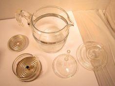 Vintage Pyrex Flame Ware Coffee Pot Percolator 7756-B Glass 6 Cup Stove Top #Pyrex #coffeepot #percolator