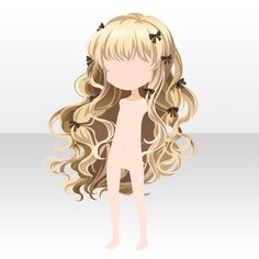 Key to Happiness Pigtail Hairstyles, Cute Hairstyles, Drawing Hairstyles, Fashion Games For Girls, Pelo Anime, Chibi Hair, Hair Sketch, Cocoppa Play, Fantasy Hair