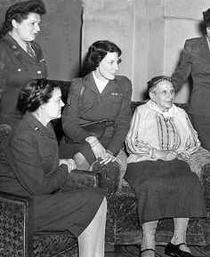 https://flic.kr/p/v74qp | Gertrude Stein and Visitors | My Aunt (upper left) with fellow WAACS visiting Gertrude Stein in her Paris apartment in July 1945.