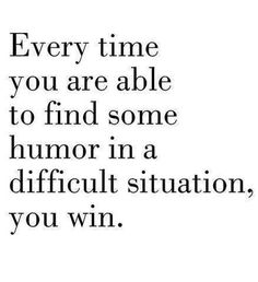 Laughter is good for the soul!