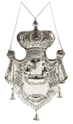 373: GERMAN SILVER TORAH SHIELD : Lot 373