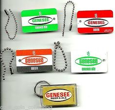 Genesee beer #keychain fob key chain, lot of 3 #different #styles, new old-stock,  View more on the LINK: http://www.zeppy.io/product/gb/2/231771212872/