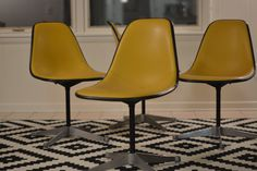 Herman Miller Eames Upholstered Shell Chairs 4