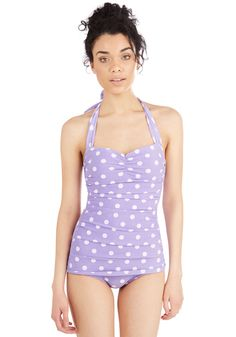 Beach Blanket Bingo One-Piece Swimsuit in Lavender. Inspired by our favorite beach party film, this one-piece swimsuit is flattering on every body type. #purple #modcloth