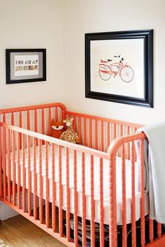 Worthy Splurge, Baby Edition: Five Infant Products Worth Every Penny - Dream nursery. That orange crib.
