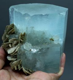 Aquamarine from Pakistan Aquamarine Crystal, Diamond Quartz, Chakra Meditation, Mineral Stone, Light Blue Color, Gems And Minerals, Smoky Quartz, Beautiful Lights, Crystals And Gemstones
