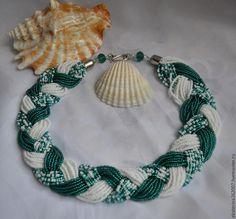 069 I made these beaded necklaces using Ukrainian classic Gerdan styles. Scarf Jewelry, Bead Jewellery, Beaded Jewelry, Beaded Bracelets, Jewelry Necklaces, Beaded Necklace Patterns, Jewelry Patterns, Necklace Designs, Handmade Jewelry Designs