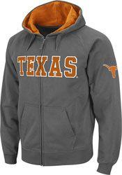Texas Longhorns Charcoal Twill Tailgate Full-Zip Hooded Sweatshirt $34.99 http://shop.texassports.com/Texas-Longhorns-Charcoal-Twill-Tailgate-Full-Zip-Hooded-Sweatshirt-_1345552425_PD.html?social=pinterest_pfid52-79928